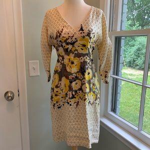 Anthropologie silk/linen dress